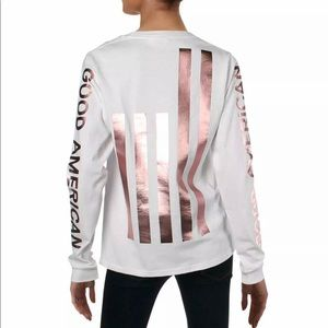 Good American Long sleeve tee-New with tag!